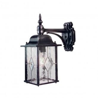 ELSTEAD WX2 | Wexford Elstead zidna svjetiljka 1x E27 IP43 antik crno, prozirno