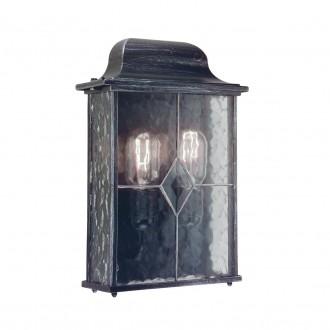 ELSTEAD WX7 | Wexford Elstead zidna svjetiljka 2x E27 IP43 antik crno, prozirno