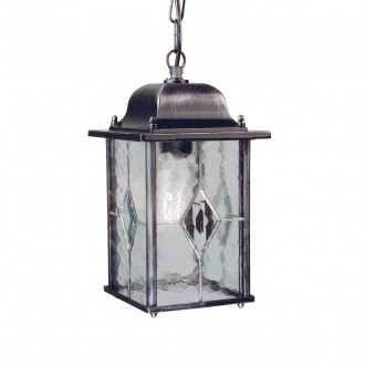 ELSTEAD WX9 | Wexford Elstead visilice svjetiljka 1x E27 IP43 antik crno, prozirno