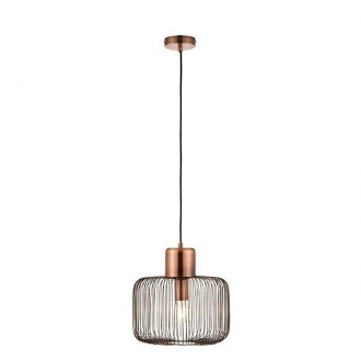 ENDON 68986   Nicola-EN Endon visilice svjetiljka 1x E27 antik crveni bakar, crno