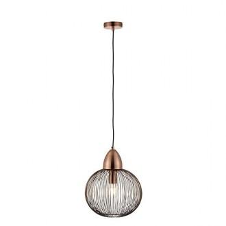 ENDON 68987 | Nicola-EN Endon visilice svjetiljka 1x E27 antik crveni bakar, crno