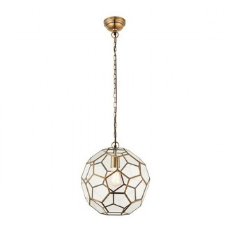 ENDON 69784 | Miele Endon visilice svjetiljka 1x E27 antik bakar, prozirno