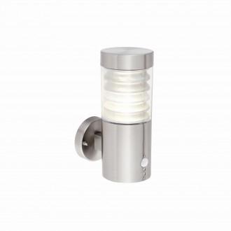ENDON 72916   Equinox-EN Endon zidna svjetiljka svjetlosni senzor - sumračni prekidač sa senzorom 1x LED 141lm 4000K IP44 brušeni čelik, prozirno