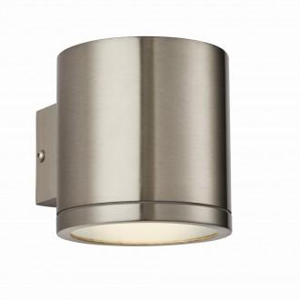 ENDON 73193 | Nio Endon zidna svjetiljka 1x LED 510lm IP44 plemeniti čelik, čelik sivo, prozirno