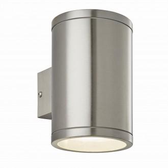ENDON 73194 | Nio Endon zidna svjetiljka 1x LED 690lm IP44 plemeniti čelik, čelik sivo, prozirno