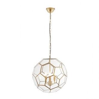 ENDON 73560 | Miele Endon visilice svjetiljka 3x E14 antik bakar, prozirno