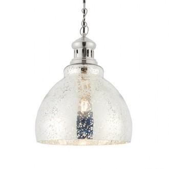 ENDON 73569 | Darna Endon visilice svjetiljka s podešavanjem visine 1x E27 svijetli nikal, prozirna
