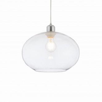 ENDON 73974 | Dimitri Endon visilice svjetiljka bežični 1x E27 krom, prozirno, efekt mjehura