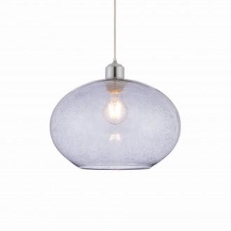 ENDON 73976 | Dimitri Endon visilice svjetiljka bežični 1x E27 krom, sivo, efekt mjehura