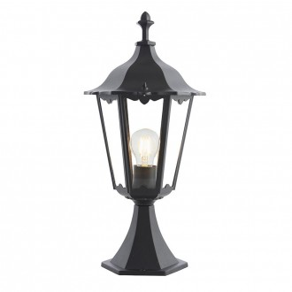ENDON 76549   Burford-EN Endon stolna svjetiljka 50cm 1x E27 IP44 crno mat, prozirno
