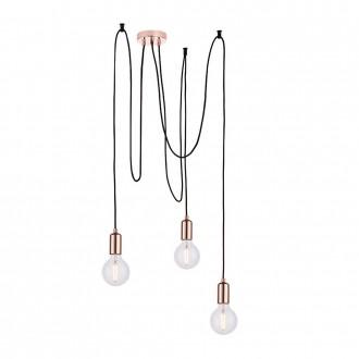 ENDON 76579 | Studio-EN Endon visilice svjetiljka s podešavanjem visine 3x E27 crveni bakar