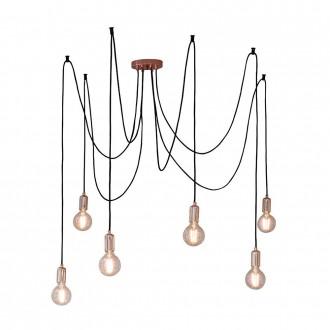 ENDON 76580 | Studio-EN Endon visilice svjetiljka s podešavanjem visine 6x E27 crveni bakar