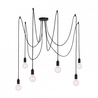 ENDON 76583 | Studio-EN Endon visilice svjetiljka s podešavanjem visine 6x E27 crno mat