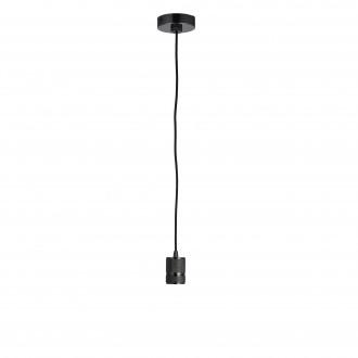ENDON 76586 | Urban-EN Endon visilice svjetiljka s podešavanjem visine 1x E27 krom, crno