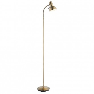 ENDON 76605 | Amalfi-Task Endon podna svjetiljka 161cm s prekidačem fleksibilna 1x GU10 antik bakar