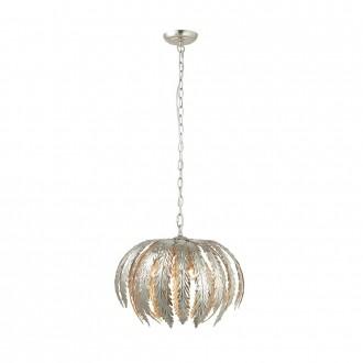 ENDON 76678 | Delphine Endon visilice svjetiljka s podešavanjem visine 3x E14 srebrno