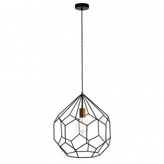 ENDON 76686 | Deco-EN Endon visilice svjetiljka 1x E27 crno mat, zlato mat