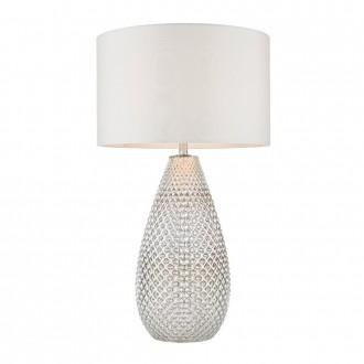 ENDON 77093 | Livia-EN Endon stolna svjetiljka 55cm sa prekidačem na kablu 1x E27 srebrno, antik bijela