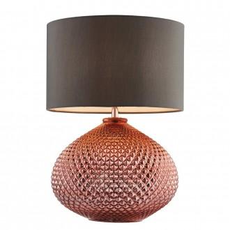 ENDON 77097   Livia-EN Endon stolna svjetiljka 44,5cm sa prekidačem na kablu 1x E27 crveni bakar, sivo