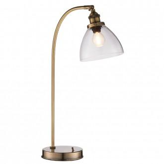 ENDON 77859 | Hansen Endon stolna svjetiljka 53,3cm s prekidačem 1x E14 antik crveni bakar, prozirno