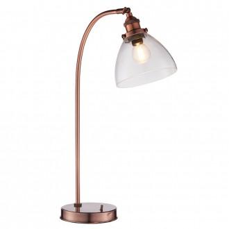 ENDON 77861 | Hansen Endon stolna svjetiljka 53,3cm sa prekidačem na kablu 1x E14 antik crveni bakar, prozirno