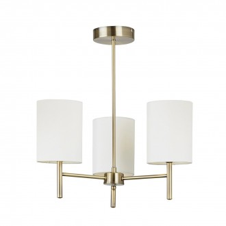 ENDON BRIO-3AB | Brio Endon stropne svjetiljke svjetiljka 3x E14 antik bakar, bijelo