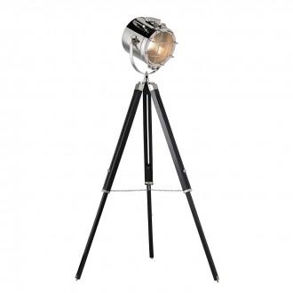 ENDON EH-NAUTICAL-FL | Nautical Endon podna svjetiljka 117cm sa nožnim prekidačem elementi koji se mogu okretati, s podešavanjem visine 1x E27 krom, crno mat