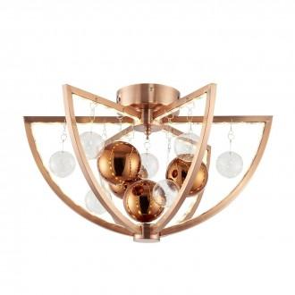 ENDON MUNI-CO-F | Muni Endon stropne svjetiljke svjetiljka 6x LED 450lm 3000K crveni bakar, prozirno
