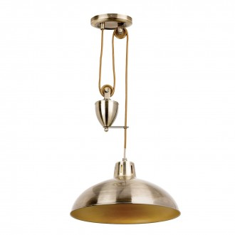 ENDON POLKA-AB | Polka-EN Endon visilice svjetiljka balansna - ravnotežna, sa visinskim podešavanjem 1x E27 antik bakar