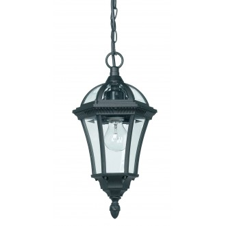 ENDON YG-3503 | Drayton Endon visilice svjetiljka 1x E27 IP44 antik crno, prozirno