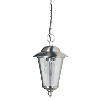 ENDON YG-865-SS | Klien Endon visilice svjetiljka 1x E27 IP44 plemeniti čelik, čelik sivo, prozirno