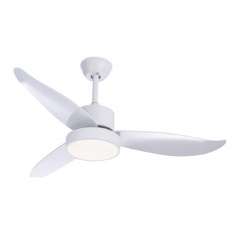 GLOBO 03600 | Ramona_GL Globo stropne svjetiljke ventilatorska lampa daljinski upravljač 1x LED 990lm 4000K bijelo, saten