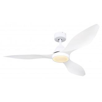 GLOBO 03602 | Maggie Globo ventilatorska lampa stropne svjetiljke daljinski upravljač timer 1x LED 990lm 4000K bijelo mat, bijelo