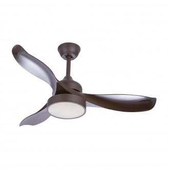 GLOBO 03610 | Ramona_GL Globo stropne svjetiljke ventilatorska lampa daljinski upravljač 1x LED 990lm 4000K kafena, saten