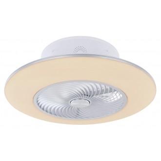 GLOBO 03623   Kello Globo ventilatorska lampa stropne svjetiljke daljinski upravljač jačina svjetlosti se može podešavati, sa podešavanjem temperature boje, timer, noćno svjetlo 1x LED 1900lm 3000 <-> 6000K bijelo, srebrno, srebrna siva