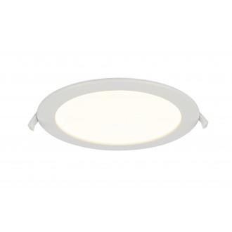 GLOBO 12392-18 | Polly Globo ugradbena svjetiljka Ø220mm 1x LED 1600lm 3000K IP44/20 bijelo, opal mat