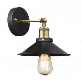GLOBO 15053W | Lenius Globo zidna svjetiljka 1x E27 metal crna, antik bakar