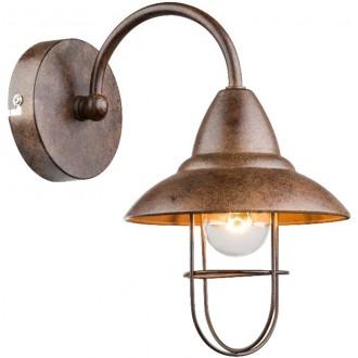 GLOBO 15126W | Kova Globo zidna svjetiljka 1x E14 rdža smeđe, metalik smeđe