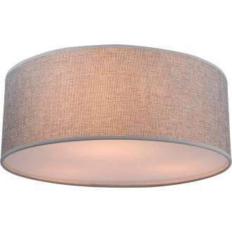 GLOBO 15185D | Paco Globo stropne svjetiljke svjetiljka 3x E14 poniklano mat, saten, sivo
