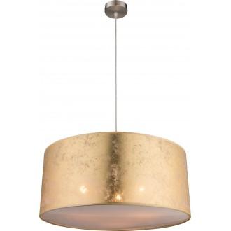 GLOBO 15187H1 | Amy Globo visilice svjetiljka 3x E27 poniklano mat, zlatno, saten