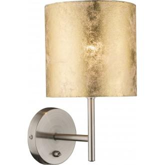 GLOBO 15187W | Amy Globo zidna svjetiljka s prekidačem 1x E14 poniklano mat, zlatno