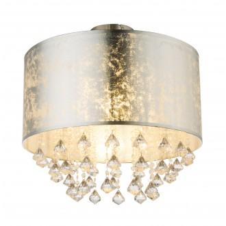GLOBO 15188D3 | Amy-I Globo stropne svjetiljke svjetiljka 1x E27 poniklano mat, srebrno, prozirno