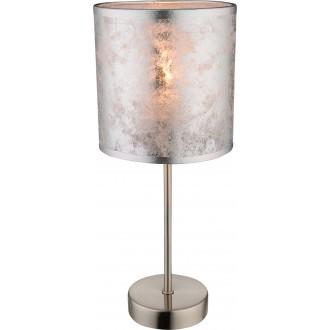 GLOBO 15188T | Amy-I Globo stolna svjetiljka 35cm s prekidačem 1x E14 poniklano mat, srebrno