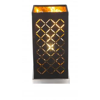 GLOBO 15229T1 | Kidal-Clarke Globo stolna svjetiljka 25cm sa prekidačem na kablu 1x E14 poniklano mat, zlatno, crno