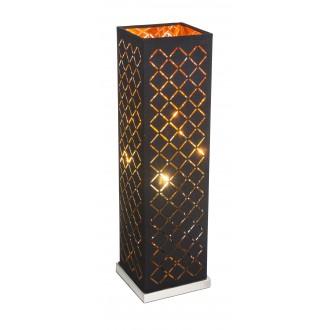 GLOBO 15229T2 | Kidal-Clarke Globo stolna svjetiljka 57cm sa prekidačem na kablu 1x E27 poniklano mat, zlatno, crno