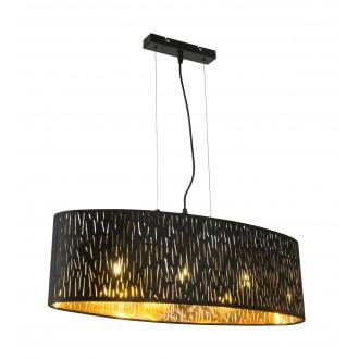GLOBO 15264H2 | Tuxon-Tarok Globo visilice svjetiljka 3x E27 metal crna, zlatno