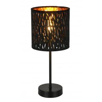 GLOBO 15264T   Tuxon-Tarok Globo stolna svjetiljka 35cm s prekidačem 1x E14 metal crna, zlatno