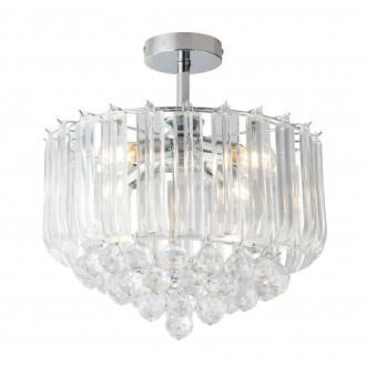 GLOBO 15303D | Minnesota Globo stropne svjetiljke svjetiljka 4x E14 krom, prozirno