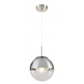 GLOBO 15851 | Varus Globo visilice svjetiljka 1x E27 krom, poniklano mat, prozirno