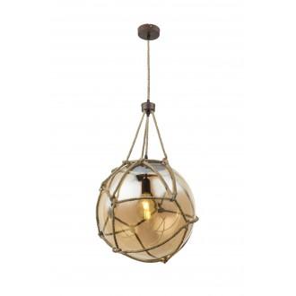 GLOBO 15859H2 | Tiko Globo visilice svjetiljka 1x E27 rdža smeđe, prozirno